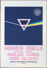 2002 Indigo Girls & Norah Jones - Columbus Concert Poster by Jeff Wood & Judy Gex