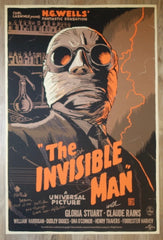 "2012 ""The Invisible Man"" - Silkscreen Movie Poster by Francesco Francavilla"