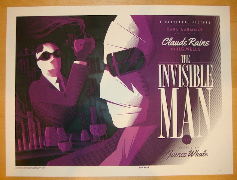 "2013 ""The Invisible Man"" - Silkscreen Movie Poster by Tom Whalen"