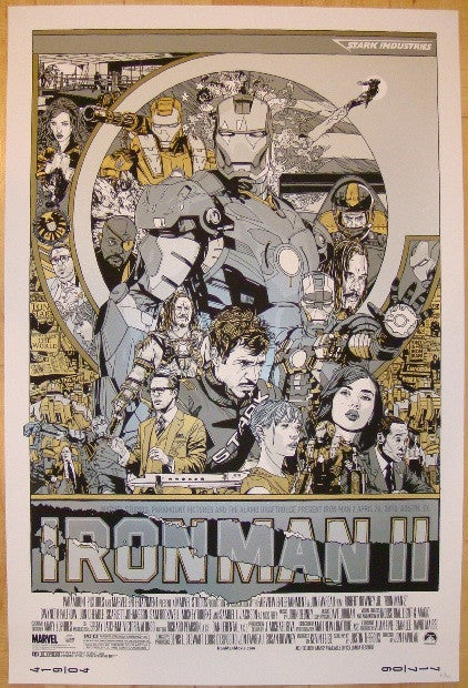 "2010 ""Iron Man 2"" - GID Variant Movie Poster by Tyler Stout"
