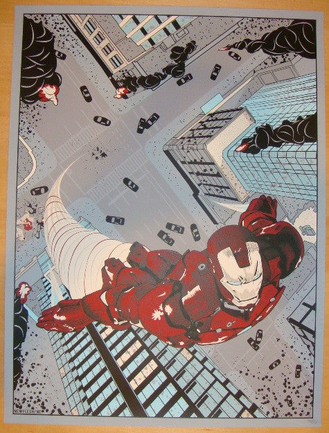 "2012 ""Iron Man"" - Silkscreen Movie Poster by New Flesh"