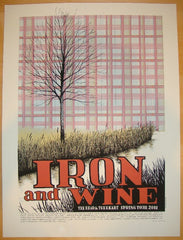 2011 Iron and Wine - Sillkscreen Tour Poster by Justin Santora