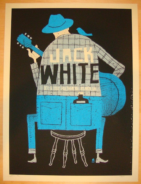 2012 Jack White - Atlanta Silkscreen Concert Poster by Methane