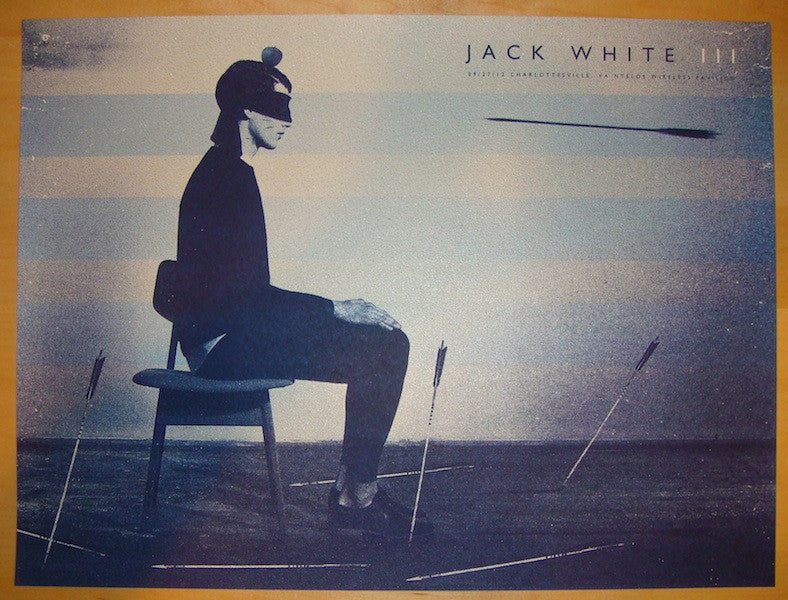 2012 Jack White - Charlottesville Poster by Silent Giants