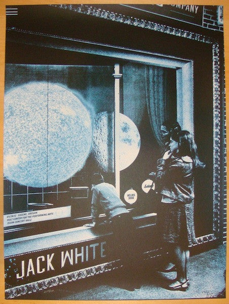 2012 Jack White - Eugene Concert Poster by The Silent Giants