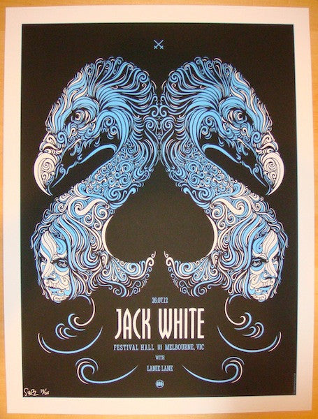 2012 Jack White - Melbourne Concert Poster by Todd Slater