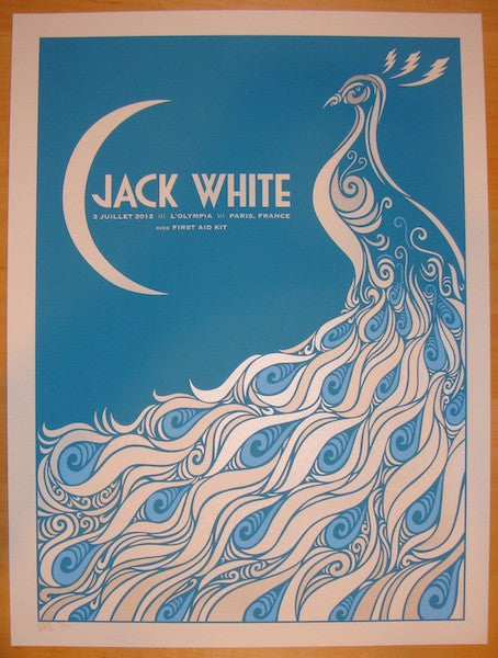 2012 Jack White - Paris II Concert Poster by Todd Slater