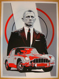 "2013 ""James Bond"" - Silkscreen Art Print by Joe Vetoe"