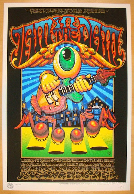 2008 Jam In The Dam - Silkscreen Concert Poster by Jeff Wood