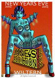 2002 Jane's Addiction Silkscreen Concert Poster by Emek