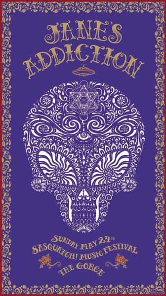 2009 Jane's Addiction - Sasquatch Purple Concert Poster by Emek