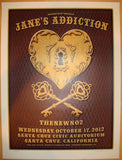 2012 Jane's Addiction - Santa Cruz Concert Poster by Dave Hunter