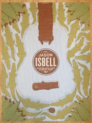 2015 Jason Isbell - Clearwater Silkscreen Concert Poster by Half and Half