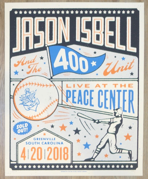 2018 Jason Isbell - Greenville Silkscreen Concert Poster by Half and Half
