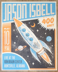 2018 Jason Isbell - Huntsville Silkscreen Concert Poster by Half and Half