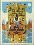 2019 Jason Isbell - Red Rocks Silkscreen Concert Poster by Methane