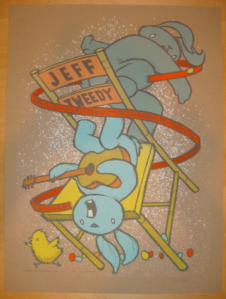 2011 Jeff Tweedy - Chicago Silkscreen Concert Poster by Jay Ryan