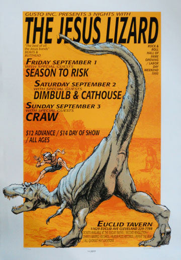 1995 The Jesus Lizard (95-26) Concert Poster by Derek Hess