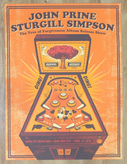 2018 John Prine & Sturgill Simpson - NYC Silkscreen Concert Poster by Status