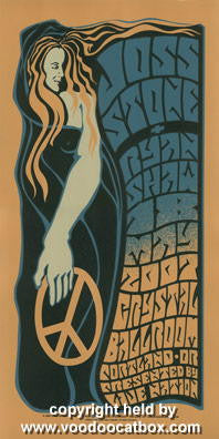 2007 Joss Stone Silkscreen Concert Poster by Gary Houston
