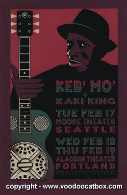 1998 Keb' Mo' Silkscreen Concert Poster by Gary Houston