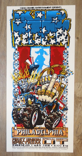 2002 Kid Rock - Philadelphia Silkscreen Concert Poster by Jeral Tidwell & Jeff Wood