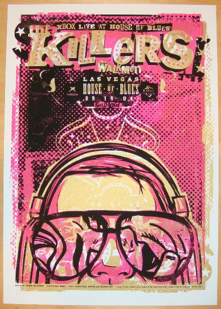 2004 The Killers - Las Vegas Concert Poster by Todd Slater
