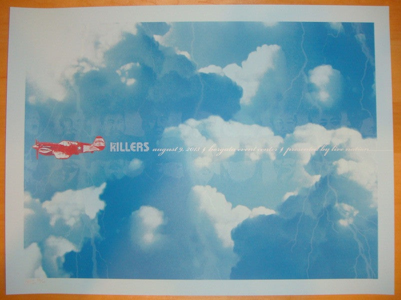 2013 The Killers - Atlantic City Concert Poster by Todd Slater