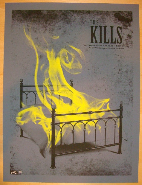 2012 The Kills - Boston Variant Concert Poster by Todd Slater