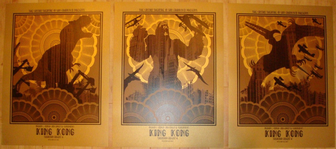 "2011 ""King Kong"" - Silkscreen Movie Poster Set by David O'Daniel"