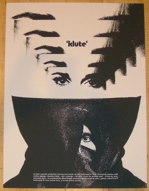 "2012 ""Klute"" - Silkscreen Movie Poster by Jay Shaw"