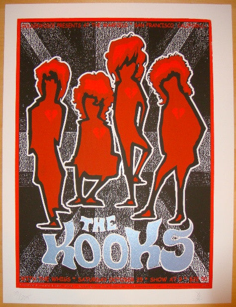 2008 The Kooks - Silkscreen Concert Poster by Zio & Firehouse