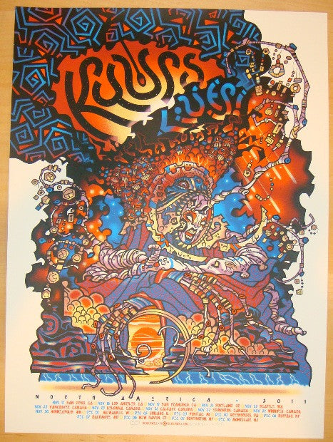 2011 Kyuss Lives - Silkscreen Tour Poster by Guy Burwell