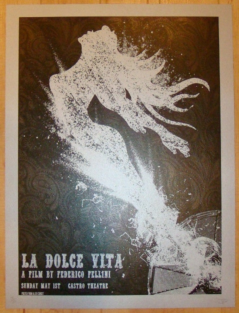 "2011 ""La Dolce Vita"" - Silkscreen Movie Poster by David O'Daniel"