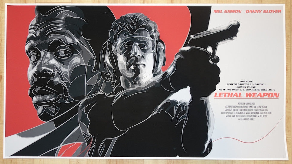 "2014 ""Lethal Weapon"" - Giclee Movie Poster by Joe Vetoe"