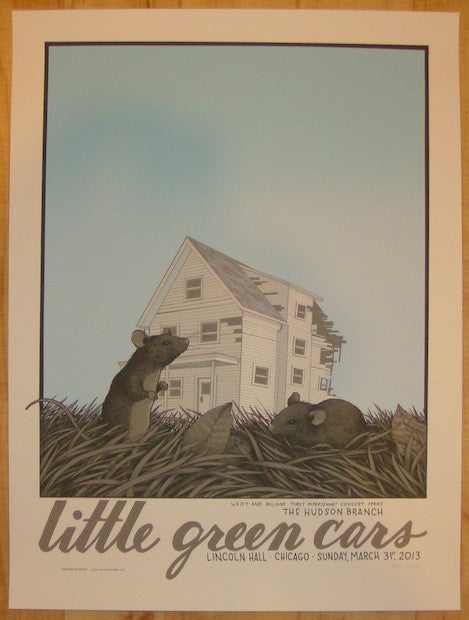 2013 Little Green Cars - Chicago Poster by Justin Santora