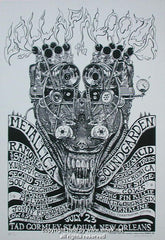 1997 Lollapalooza w/ Soundgarden & Metallica B/W Poster by Emek
