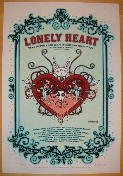 2006 Lonely Heart Book Tour - Event Poster by Tara McPherson