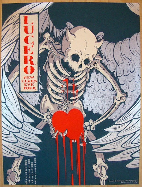 2012 Lucero - NYE Silkscreen Concert Poster by James Flames