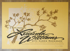 2007 Lucinda Williams - Louisville Silkscreen Concert Poster by Jeral Tidwell