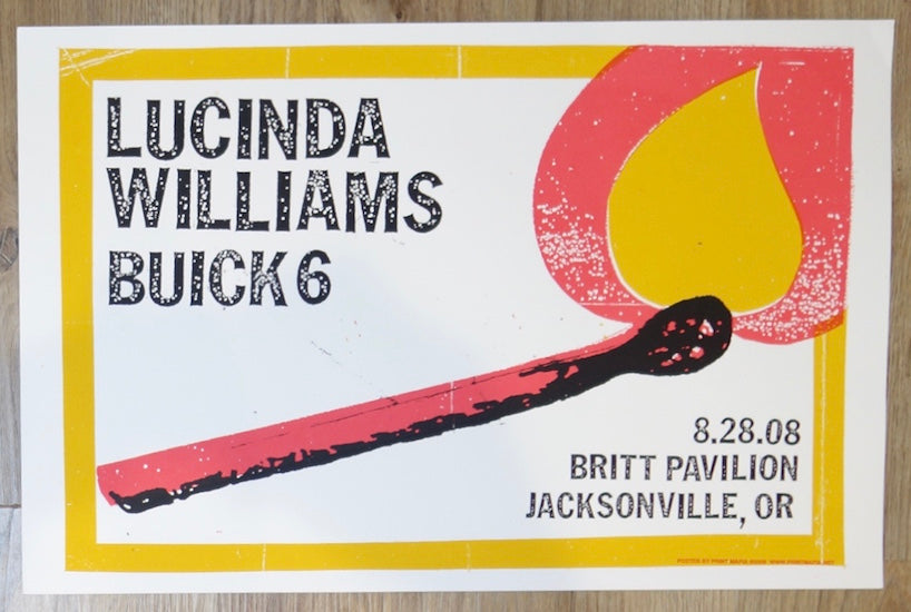 2008 Lucinda Williams - Jacksonville OR Silkscreen Concert Poster by Print Mafia