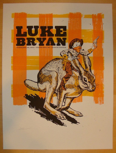 2013 Luke Bryan - Green Bay Concert Poster by Andrew Vastagh