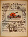 2013 Luke Bryan - Sioux City Concert Poster by Andrew Vastagh