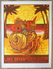 2017 Luke Bryan - Mexico Silkscreen Concert Poster by Jim Mazza