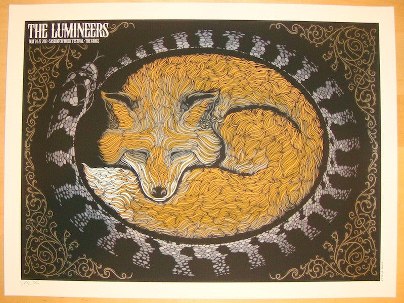 2013 The Lumineers - Sasquatch! Variant Poster by Todd Slater