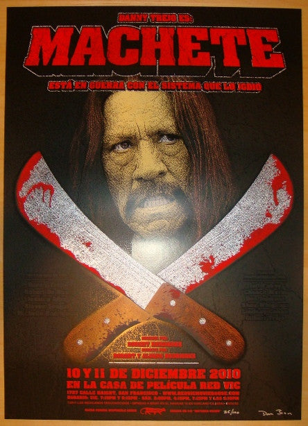 "2010 ""Machete"" - Silkcreen Movie Poster by Hunter & Donovan"
