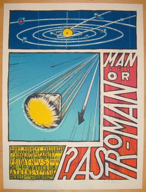2010 Man or Astro-man? - Athens Concert Poster by Jay Ryan