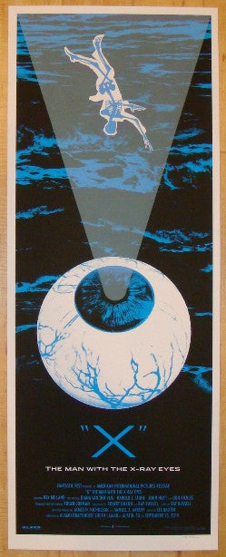 "2010 ""X The Man With The X-Ray Eyes"" - Silkscreen Movie Poster by Rob Jones"