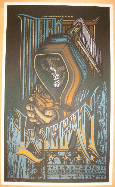 2011 Mark Lanegan - Seattle Concert Poster by Brad Klausen