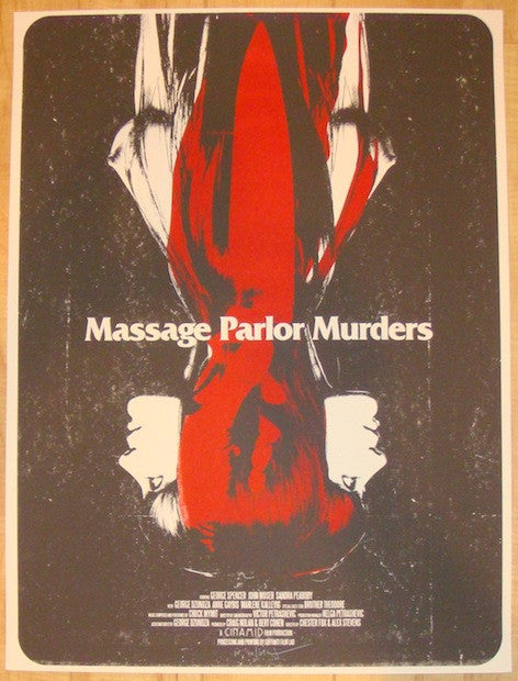 "2013 ""Massage Parlor Murders"" - Movie Poster by Jay Shaw"